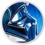 Blue Vader Round Beach Towel