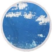 Blue Wall Round Beach Towel
