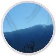 Blue Wall Clouds 1  Round Beach Towel