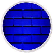 Blue Wall Round Beach Towel by Semmick Photo
