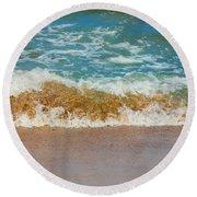 Blue Wave Round Beach Towel