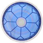Blue Window Round Beach Towel