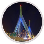 Blue Zakim Round Beach Towel