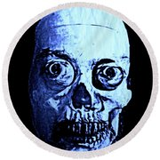 Blue Zombie Round Beach Towel