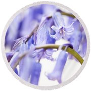 Bluebell Abstract II Round Beach Towel