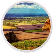 Bluebell And Buttercup Round Beach Towel