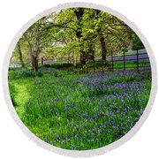 Bluebell Way Round Beach Towel