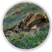 Bluebells At Bransdale Round Beach Towel