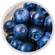 Blueberries Punnet Round Beach Towel