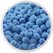 Blueberries Round Beach Towel