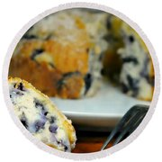 Blueberry Bundt Cake Round Beach Towel