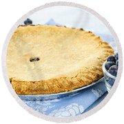 Blueberry Pie Round Beach Towel