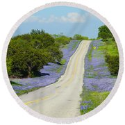 Bluebonnet Highway 2am-28667 Round Beach Towel
