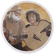 Bluegrass Music Round Beach Towel