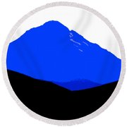 Blue Mountain  Round Beach Towel