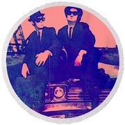 Blues Brothers 2 Round Beach Towel