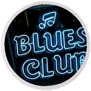 Blues Club On Bourbon Street Nola  Round Beach Towel