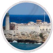 Blues Of Cuba Round Beach Towel