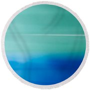 Blur Of The Bet Round Beach Towel