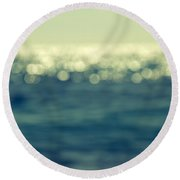Blurred Light Round Beach Towel