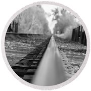 Blurred Track Round Beach Towel