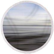 Blurry Shoreline Round Beach Towel