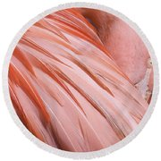 Blushing Flamingo Round Beach Towel