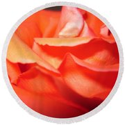 Blushing Orange Rose 6 Round Beach Towel