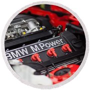 Bmw M Power Round Beach Towel