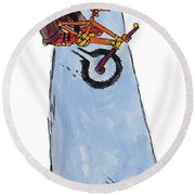 Bmx Drawing Round Beach Towel