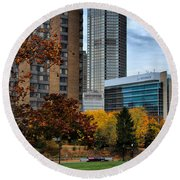 Bny Mellon From Duquesne University Campus Hdr Round Beach Towel