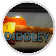Bo Diddley's Guitar Round Beach Towel
