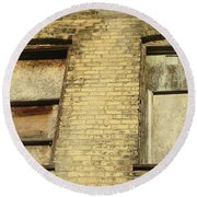Boarded Windows 2 Round Beach Towel