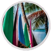 Boards Of Surf Round Beach Towel