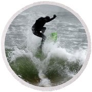 Boardskimming - Into The Surf Round Beach Towel
