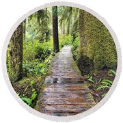 Boardwalk On The Rainforest Trail In Round Beach Towel