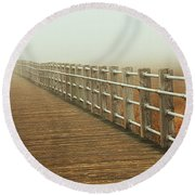 Boardwalk To The Unknown Round Beach Towel