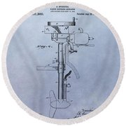 Boat Propeller Patent Drawing 1911 Round Beach Towel