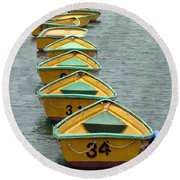 Dingy Boat Rentals Round Beach Towel