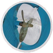 Boat Rudder Round Beach Towel