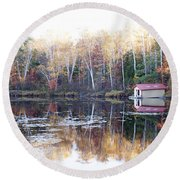 Boat Shed  Round Beach Towel