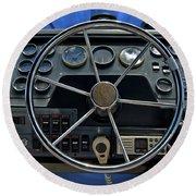 Boat Steering Wheel Round Beach Towel