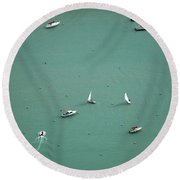Boating Chicago Sports 11 Round Beach Towel