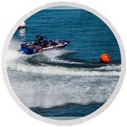 Boatnik Races 1 Round Beach Towel