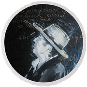 Bob Dylan - Blowing In The Wind Round Beach Towel