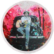 Bob Dylan - Crossroads Round Beach Towel