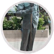 Bob Hope Memorial Statue Round Beach Towel
