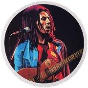 Bob Marley 2 Round Beach Towel