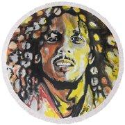 Bob Marley 02 Round Beach Towel