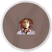 Bob Marley Earth Tones Round Beach Towel